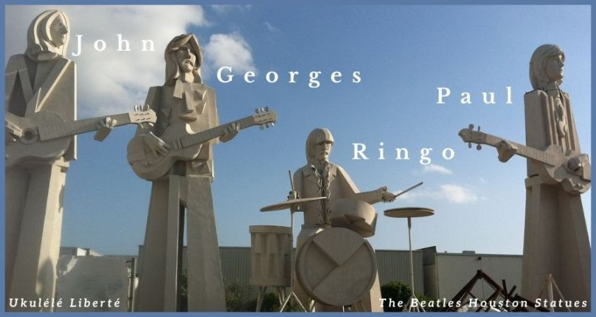 The Beatles Houston Statues