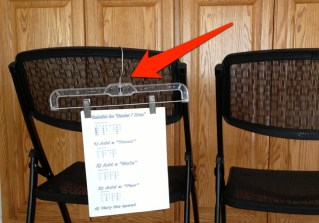 """Easy music """"stand"""" for workshops!"""