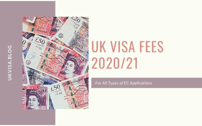 UK Visa Fees 2020/21 for All Types of Applications