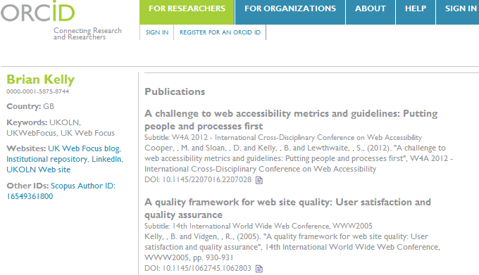 Why You Should Do More Than Simply Claiming Your ORCID ID (1/4)