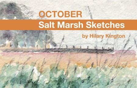 October Salt Marsh Sketch Book front cover