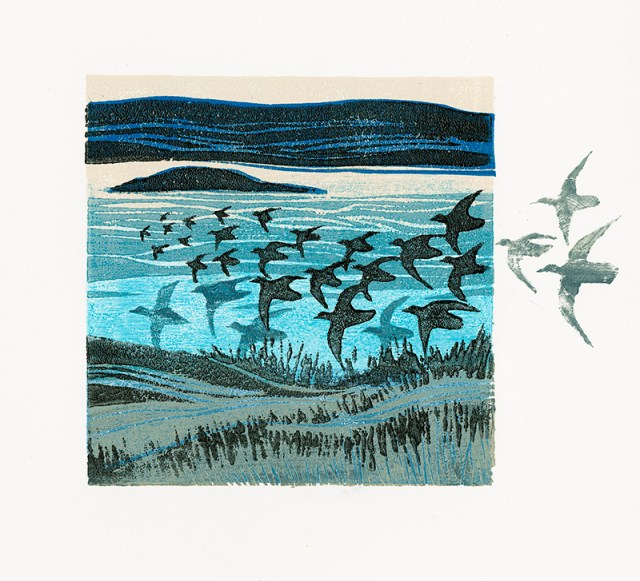 Variable Edition Woodcut - Edge of Salt Marsh 2