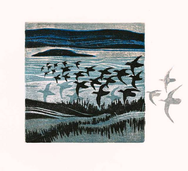 Variable edition woodcut - Edge of Salt Marsh 3