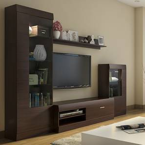 TV Unit  Stand   Cabinet Designs  Buy TV Units  Stands   Cabinets     Ferdinand Entertainment Unit Set 2  Dark Oak Finish  by Urban Ladder