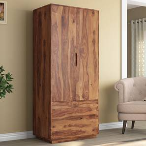 Wardrobe Designs Online  Check Bedroom Wardrobes Design   Price     Zephyr Wardrobe  Teak Finish  by Urban Ladder