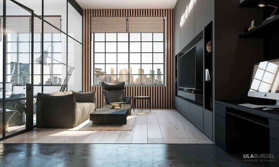 Bachelor Pad Interior Design In New York Project By Ula Burgiel
