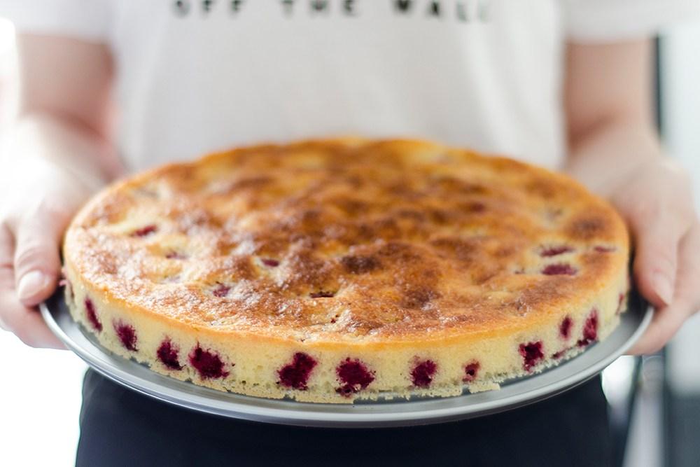 Moelleux citron framboises dessert gâteau