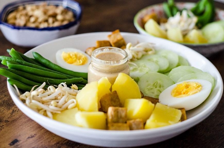 Gado-gado salade indonésienne