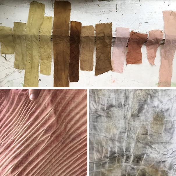 Färben mit Pflanzenfarbe für Textil Kunst copyright Ulrike Monschein