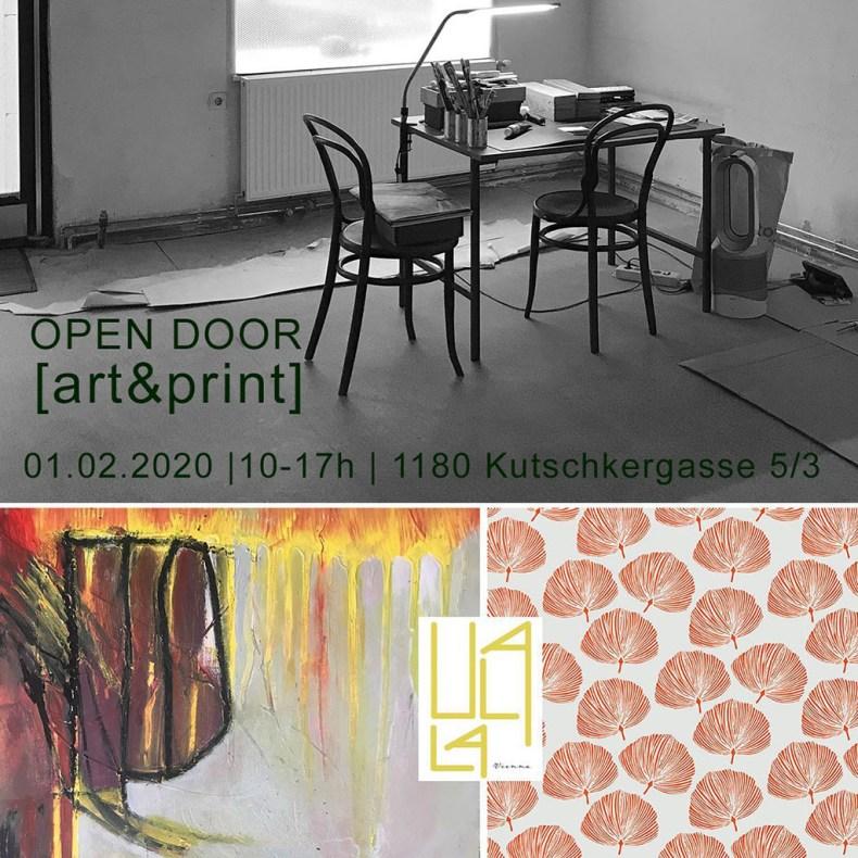 Einladung zum Open Door im Atelier Kunst und Muster