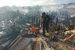 Kebakaran Hanguskan 30 Rumah Warga di Palangkaraya Diduga Dipicu Pertengkaran Pasutri