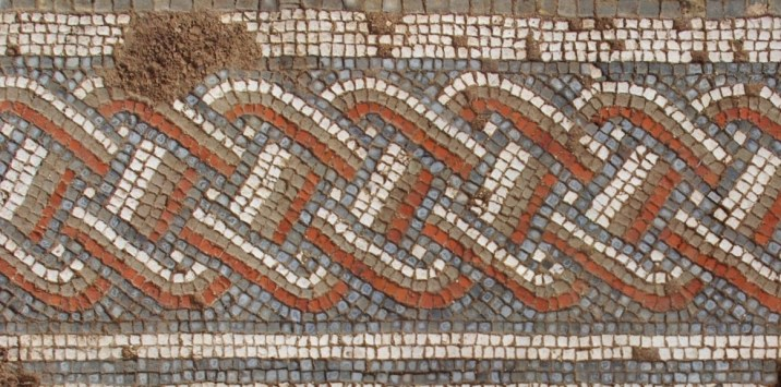 Detail of the mosaic floor.