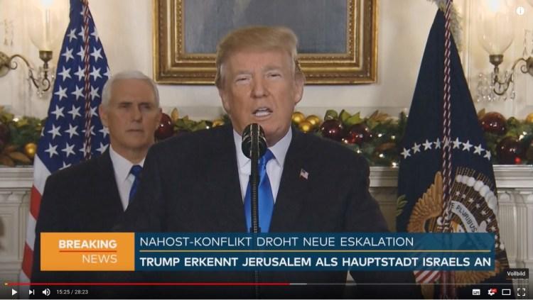6.12.2017 Donald Trump Jerusalem