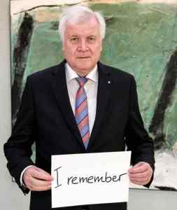 Horst Seehofer #WeRemember