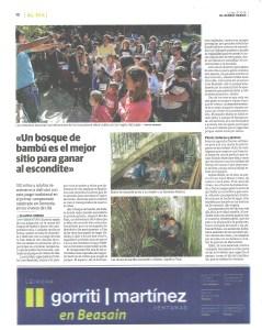 «Un bosque de bambú es el mejor sitio para poder esconderse» en el I. Campeonato del Escondite de Donostia