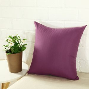 YWZN Candy Color Cushion Cover Solid Color Polyester Throw Pillow Case Home Decorative Pillowcase Seat Car Cushion Cover