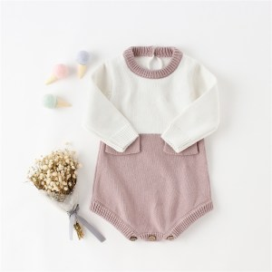 2019 baby clothes winter knitted sweater romper toddler baby girl romper for 0-2Y infant girls party jumpsuit kids clothes