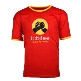 100% polyester short sleeve men campaign tshirt