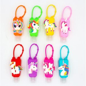 Cartoon Unicorn Silicone Kids Hand Sanitizer Spray Bottle Portable Disinfectant Gel Holder Cover Mini Hand Sanitizer Kids Gifts