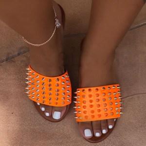 2020 Sandals For Women And Ladies Summer Flat Sandals Women Shoes Rhinestone Slide Sandals