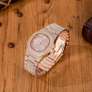 6pcs/set Boutique Gift Set Glasses+belt wallet+key Chain+large Dial Quartz Watch+pen Free Matching Bracelet Watches 2021 Luxury