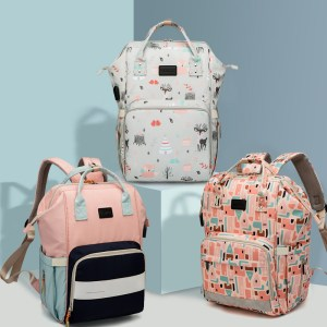 Hot Diaper Bags Backpack USB Charge