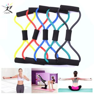 8 Word Fitness Rope Resistance Bands Rubber Bands for Fitness Elastic Band Fitness Equipment Expander Workout Gym Exercise Train