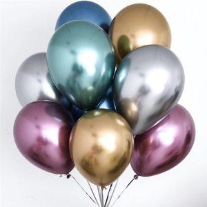 10pcs 5/10/12inch Glossy Metal Pearl Latex Balloons Thick Chrome Metallic Colors helium Air Balls Globos Birthday Party Decor
