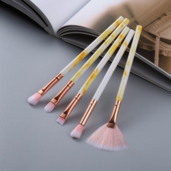FLD5/15Pcs Makeup Brushes Tool Set Cosmetic Powder Eye Shadow Foundation Blush Blending Beauty Make Up Brush Maquiagem