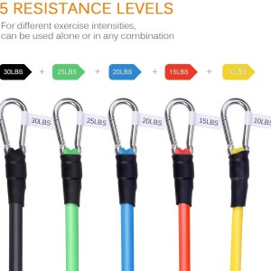 Resistance Bands, Exercise Bands Set of 4 Ankle Tube Bands Strength T