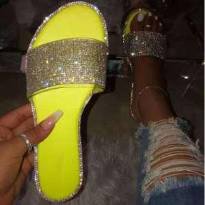 Yellow Slippers Women Sandals
