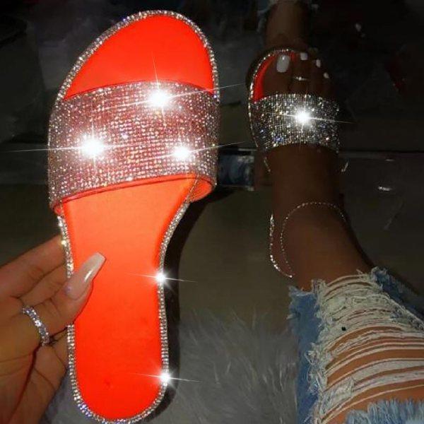Mamba Glitter Slippers Women Summer Beach Sandals