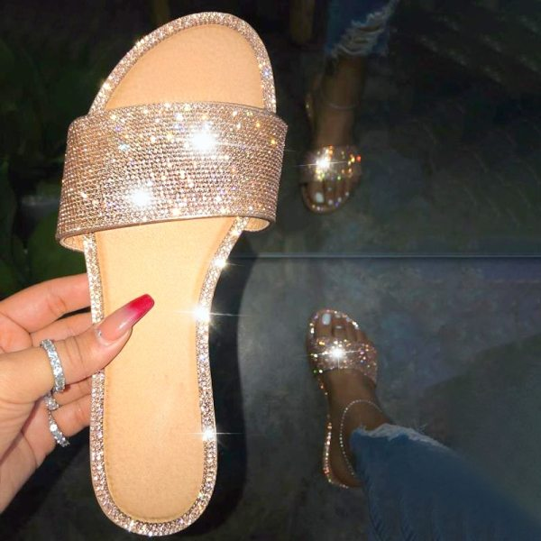Black Slippers Women Summer Beach Sandals