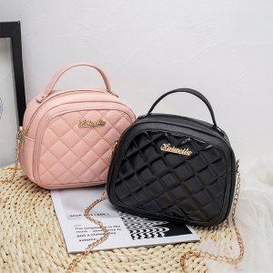Women Shell Bags Rhombic Chain Casual Handbag