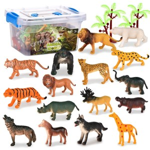 Hot Sale Educational Collect Wild Animal Model Kits Animal Figures Set Souvenir Gift Toy Set With 36PCS