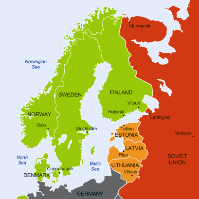 The Baltic region in 1939