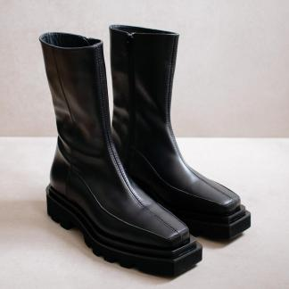 Block Total Black Boots