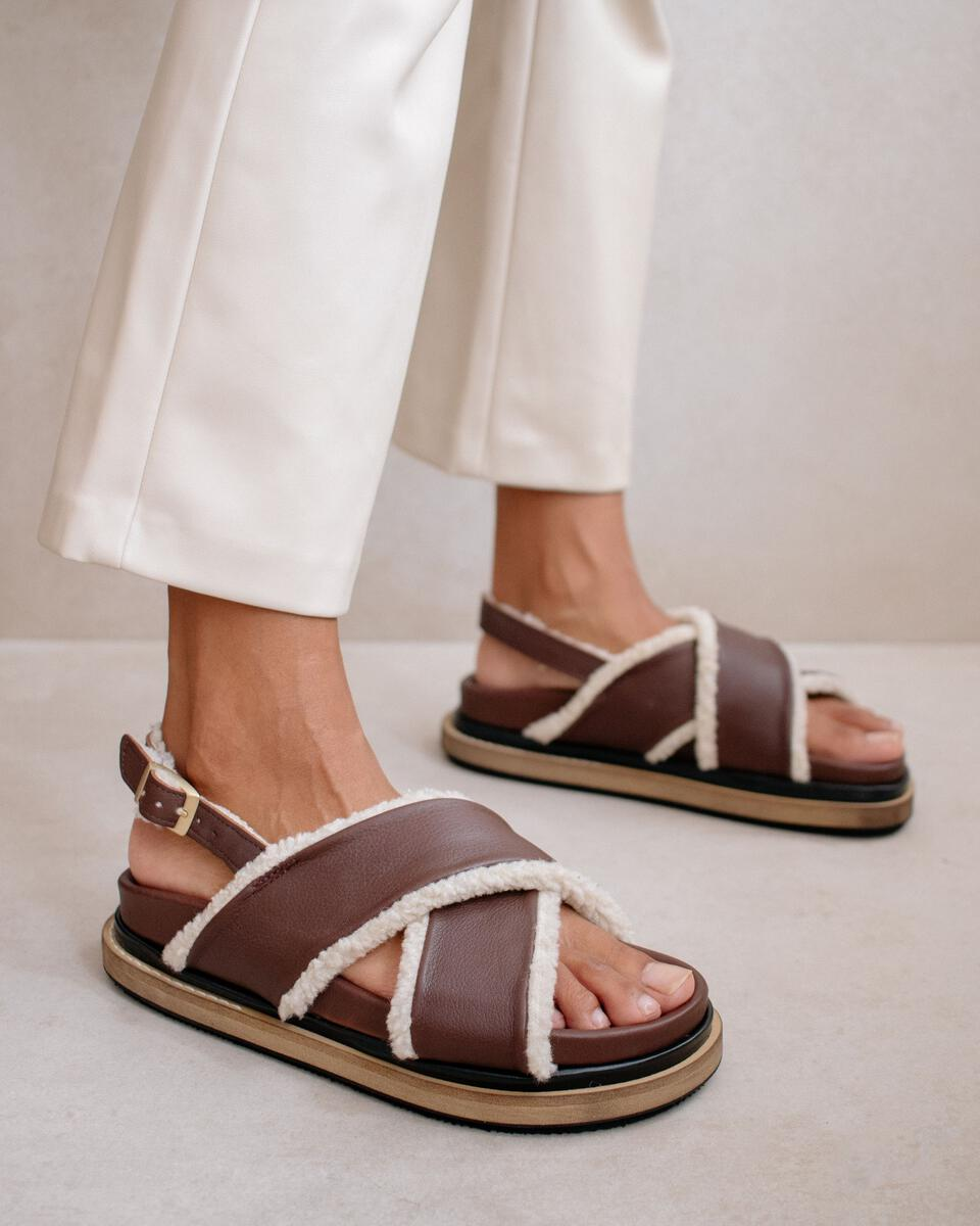 Marshmallow Brown Leather