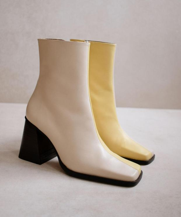 South Bicolor Off White & Yellow
