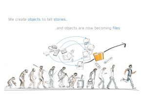 We create objects to tell stories…