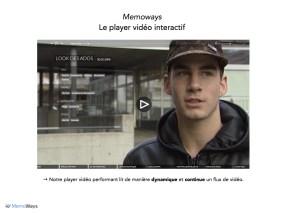 Le player vidéo Memoways