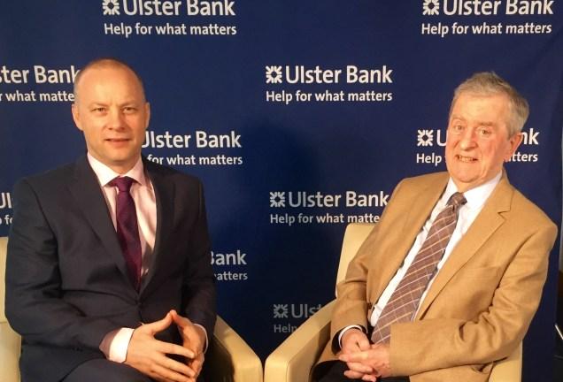 Economists Richard Ramsey and John Simpson during the filming of #TalkingEconomix