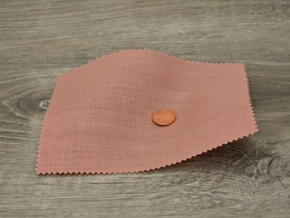 Medium Weight Pink Clover Linen fabric