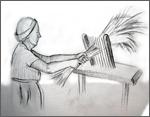 Linen hackling