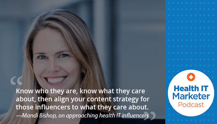 Mandi Bishop on the Health IT Marketer Podcast