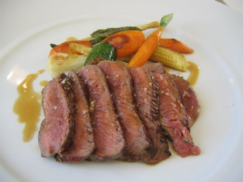 Tuscan beef filet with grilled vegetables
