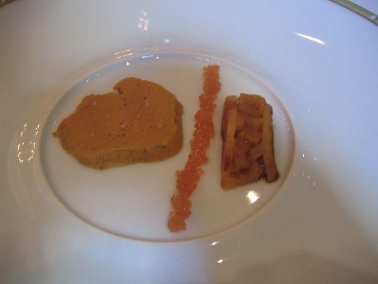 Foie gras au torchon, quince jelly & pear.