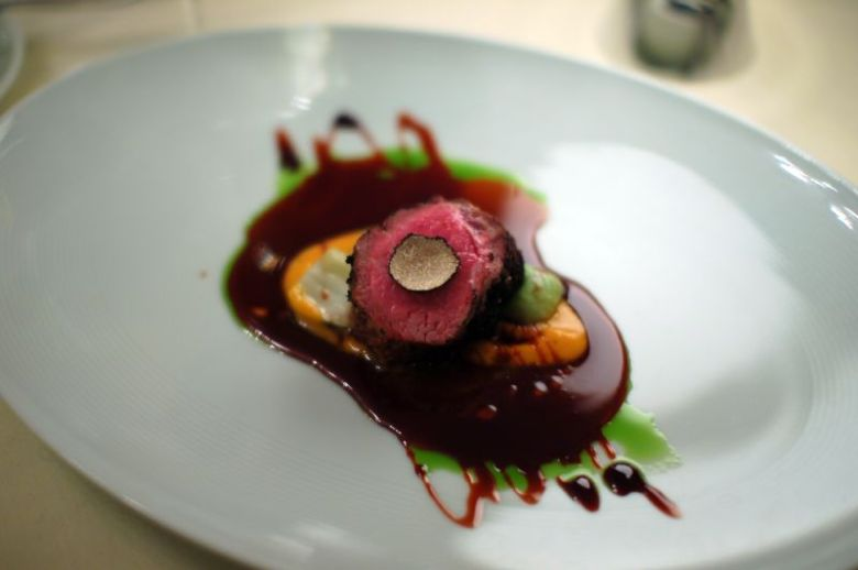 Grilled Peppercorn-Crusted Lamb Ribeye