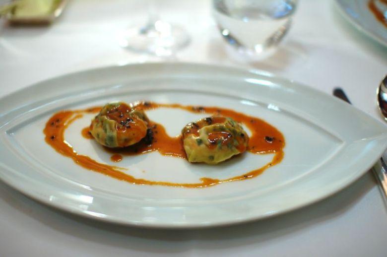 Shrimp and Foie Gras Ravioli