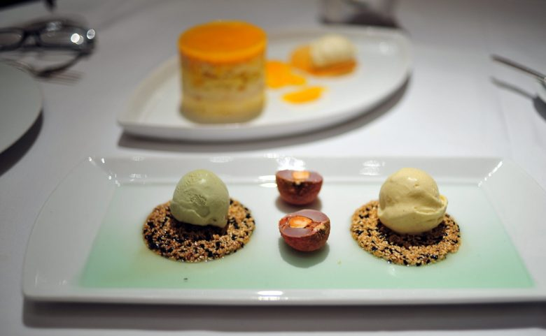 Dessert: Green Tea and Star Anise Ice Cream